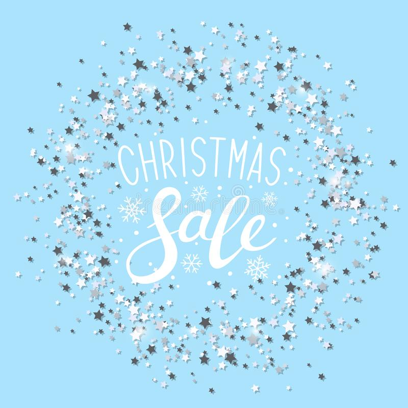 Free Round Frame With Christmas Sale Message Stock Image - 127580181