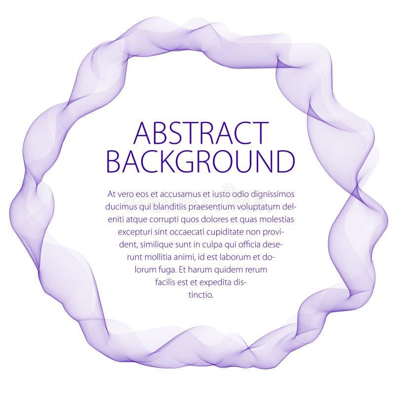 Round gładka liniowa rama faliste linie Wektorowy abstrakcjonistyczny artisti ilustracji