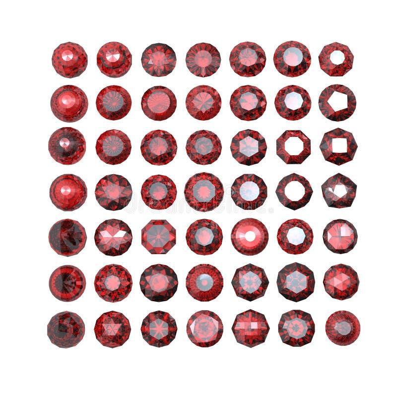Download Round Garnet Isolated. Gemstone Stock Illustration - Image: 20097121