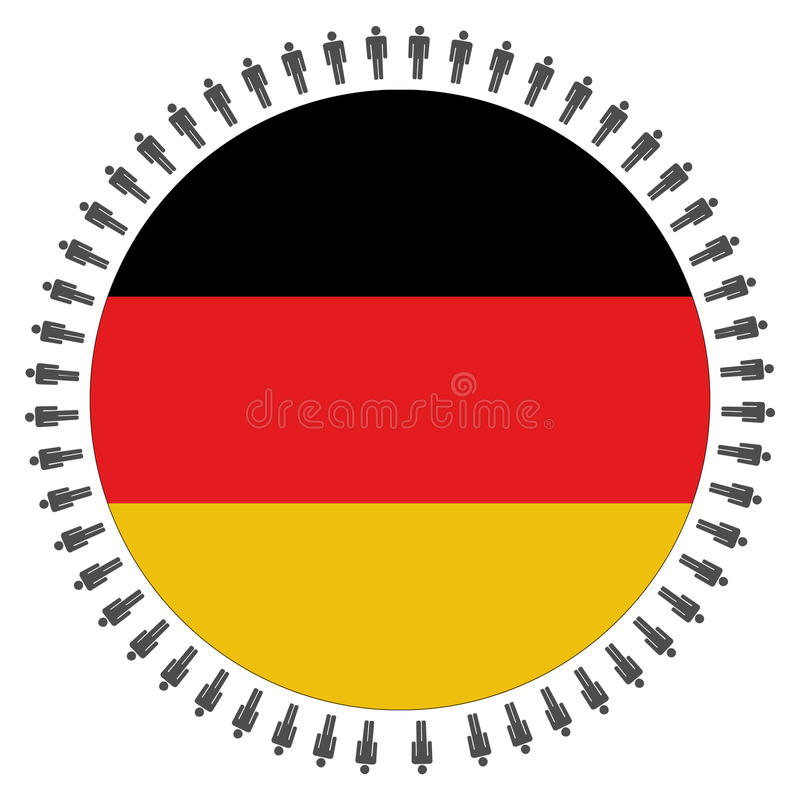 Download Round German Flag With People Stock Vector - Illustration: 11046981