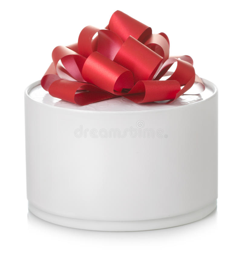 Round gift box royalty free stock image