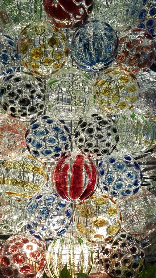 Round glass royalty free stock photo