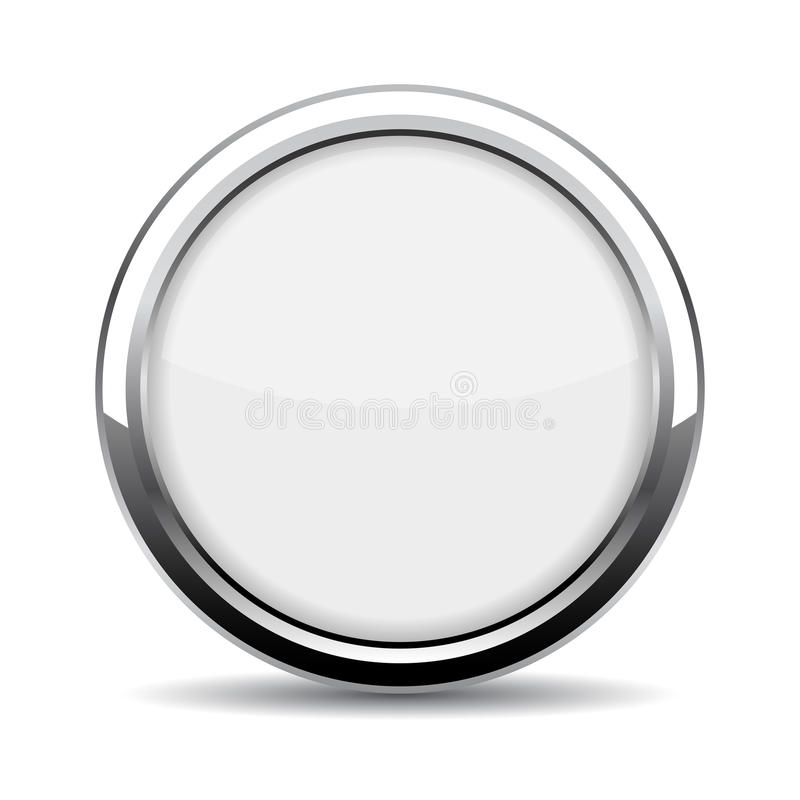 Round glass web button royalty free illustration