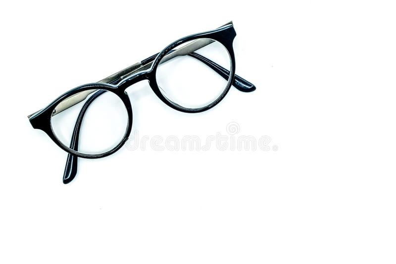 Round Glasses Women.Is a good background.Suitable for use. Round Glasses Women.Already used The image is sharp close.Is a good background.Suitable for use royalty free stock photography