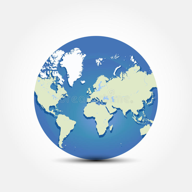 Round globe world map flat illustration eps 10 stock illustration download round globe world map flat illustration eps 10 stock illustration illustration of america gumiabroncs Gallery