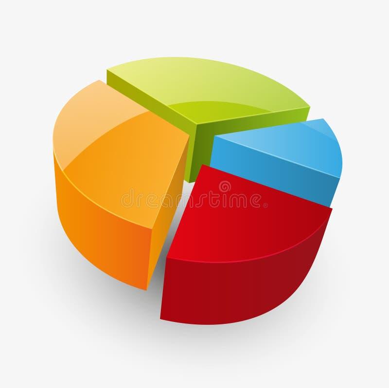 Round glossy diagramm. Illustration of round glossy diagramm royalty free illustration