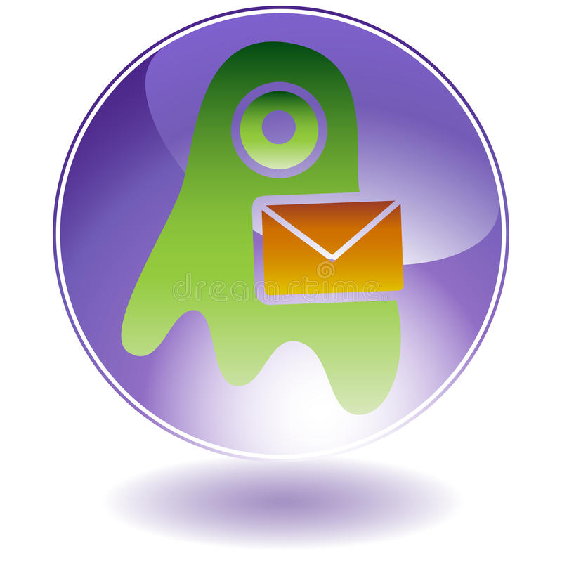 Download Round Glossy Purple Button Royalty Free Stock Photography - Image: 10059787