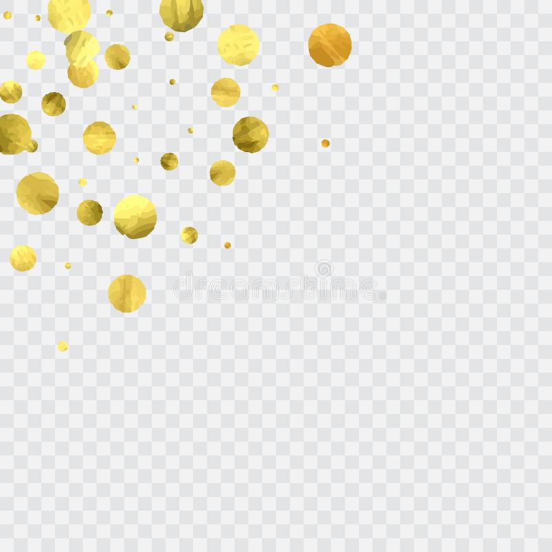 Round gold confetti. stock illustration