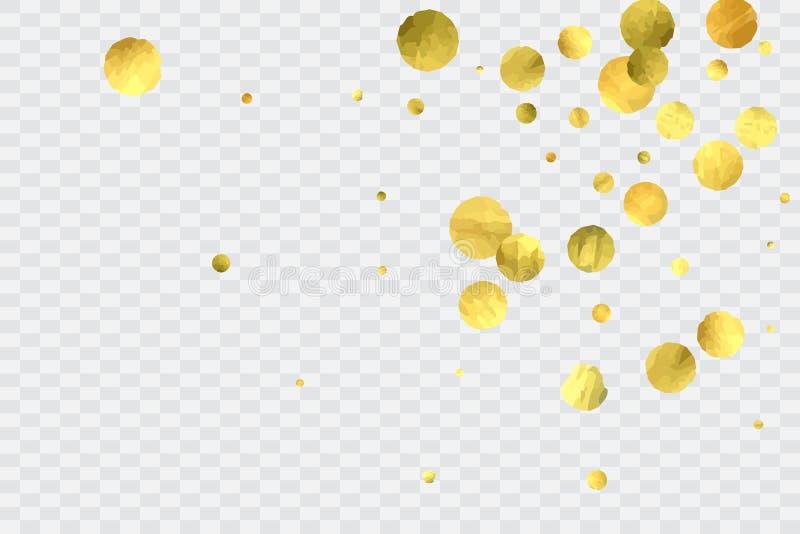 Round gold confetti. stock illustration