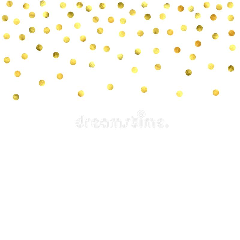 Round gold confetti. royalty free illustration