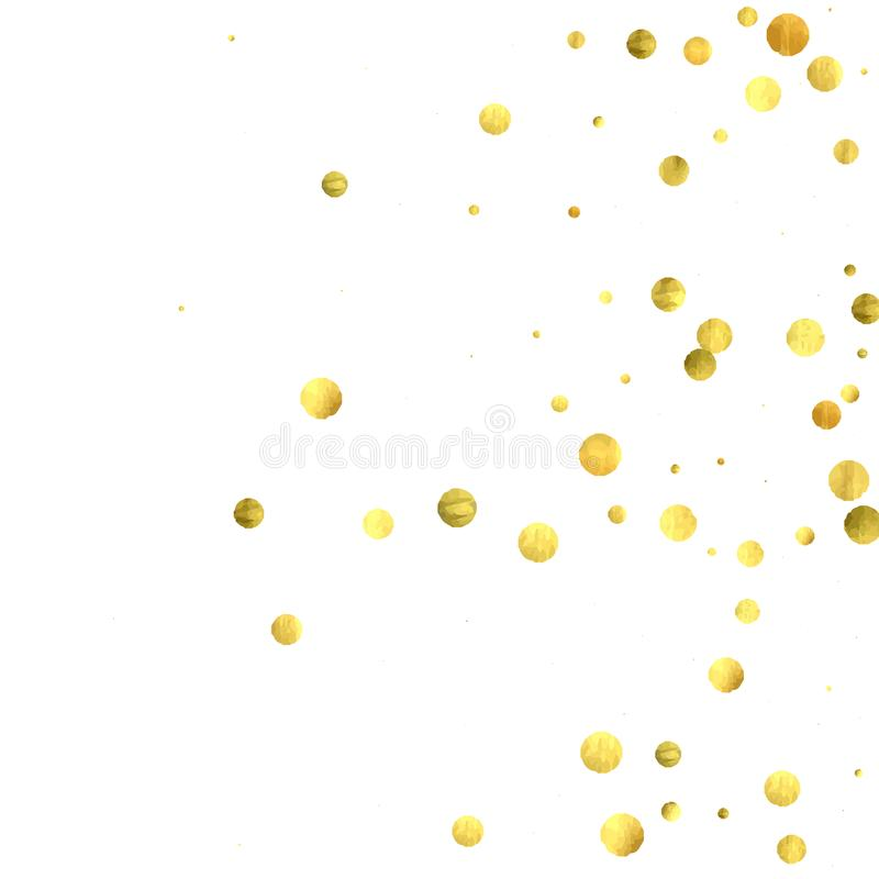 Round gold confetti. vector illustration