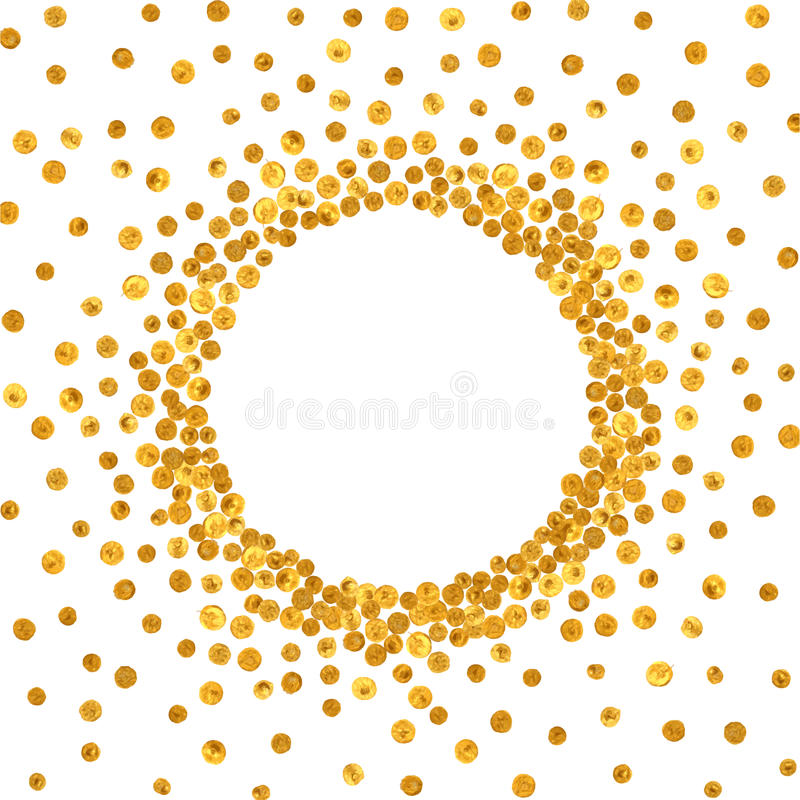 Round gold frame or border. royalty free illustration