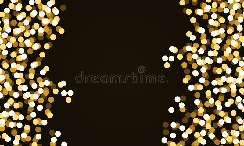 Round Gold Glitter Confetti vector illustration