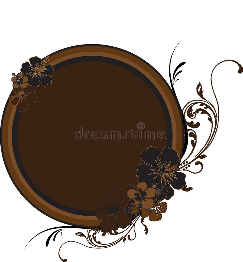 Download Round Golden-Brown Frame With Stock Vector - Image: 5272074