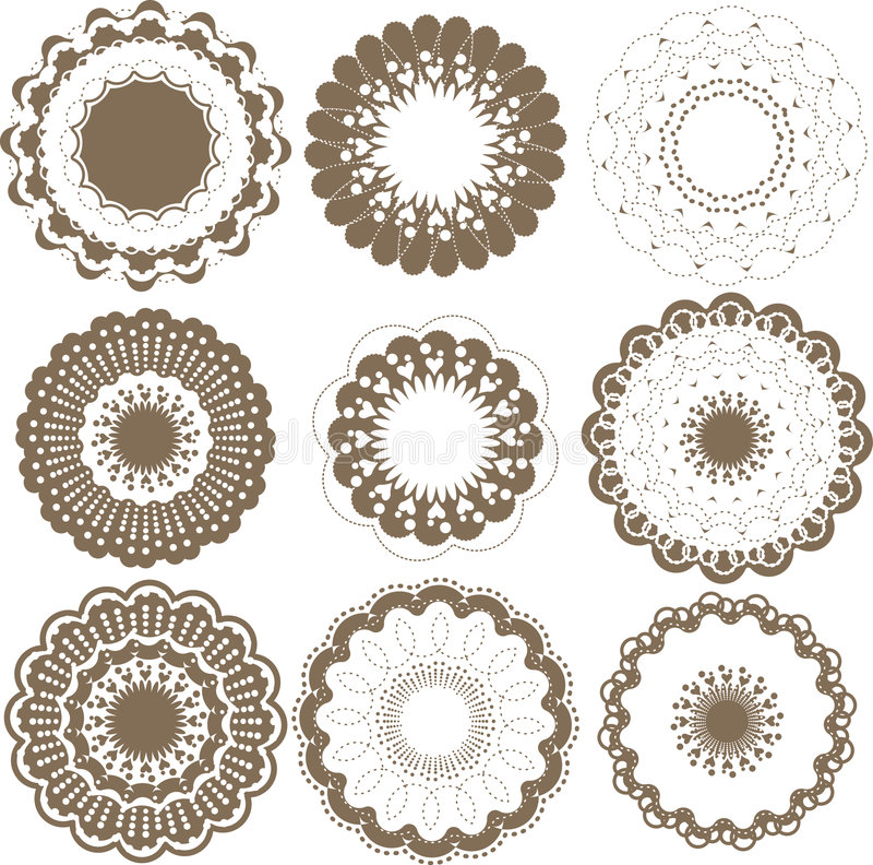 Download Round graphic elements set stock vector. Illustration of bright - 9013274