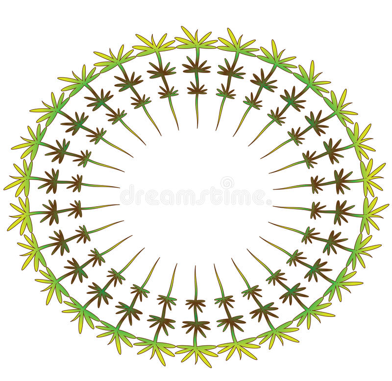 Round green frame vector illustration