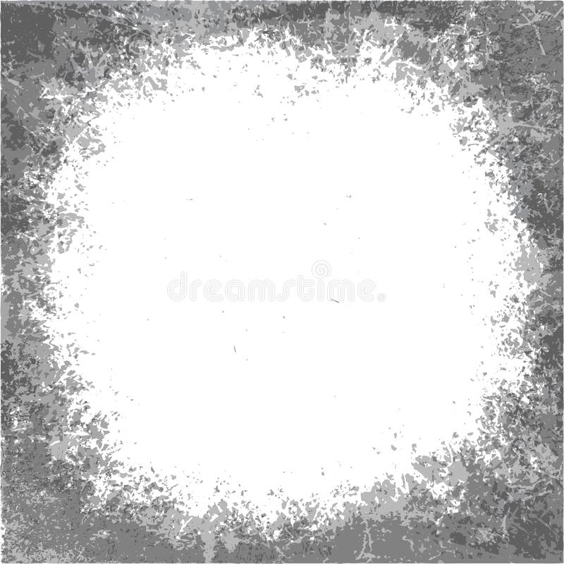 Round grunge border, vector background. Round grunge black and white border, vector background with a space for copy royalty free illustration