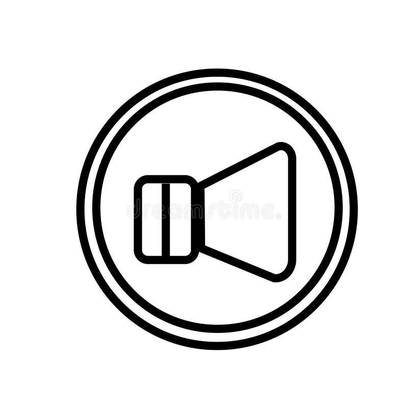 Round guzika ikony wektoru tomowy znak i symbol odizolowywający na białym tle, Round guzika logo tomowy pojęcie ilustracja wektor