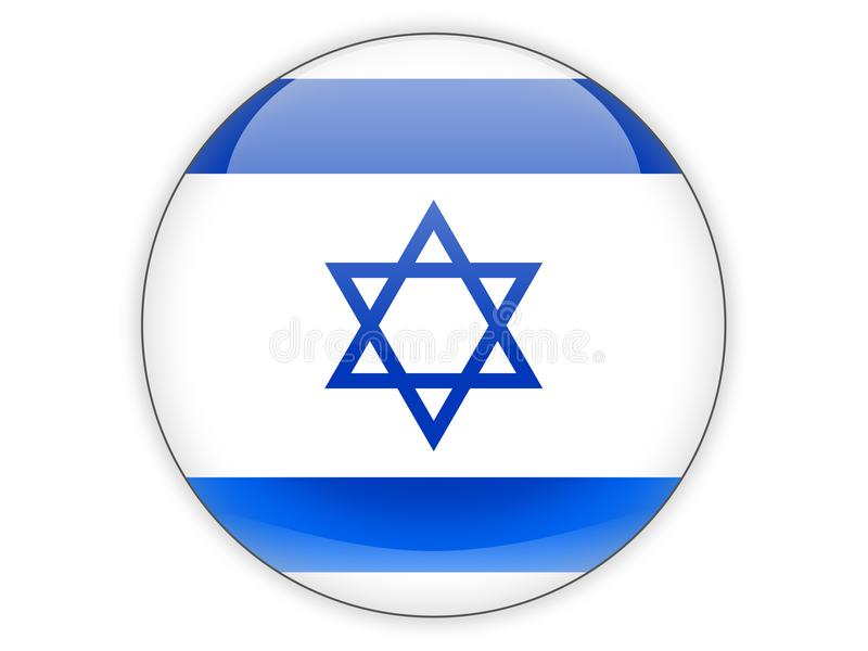 Round icon with flag of israel vector illustration