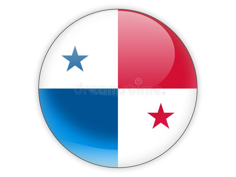 Round icon with flag of panama royalty free illustration