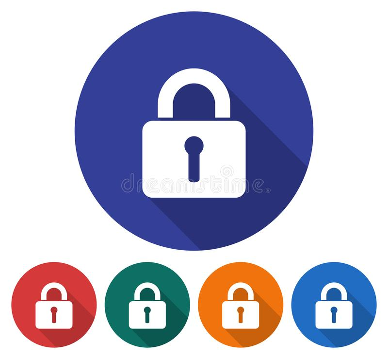 Locked padlock icon vector illustration