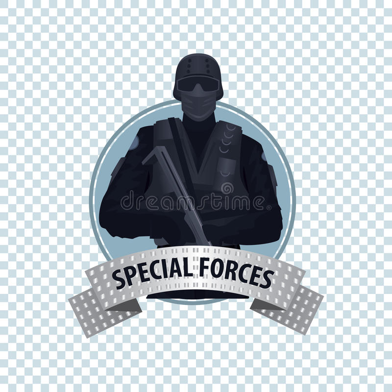 Round icon with Special Law Enforcement Unit vector illustration