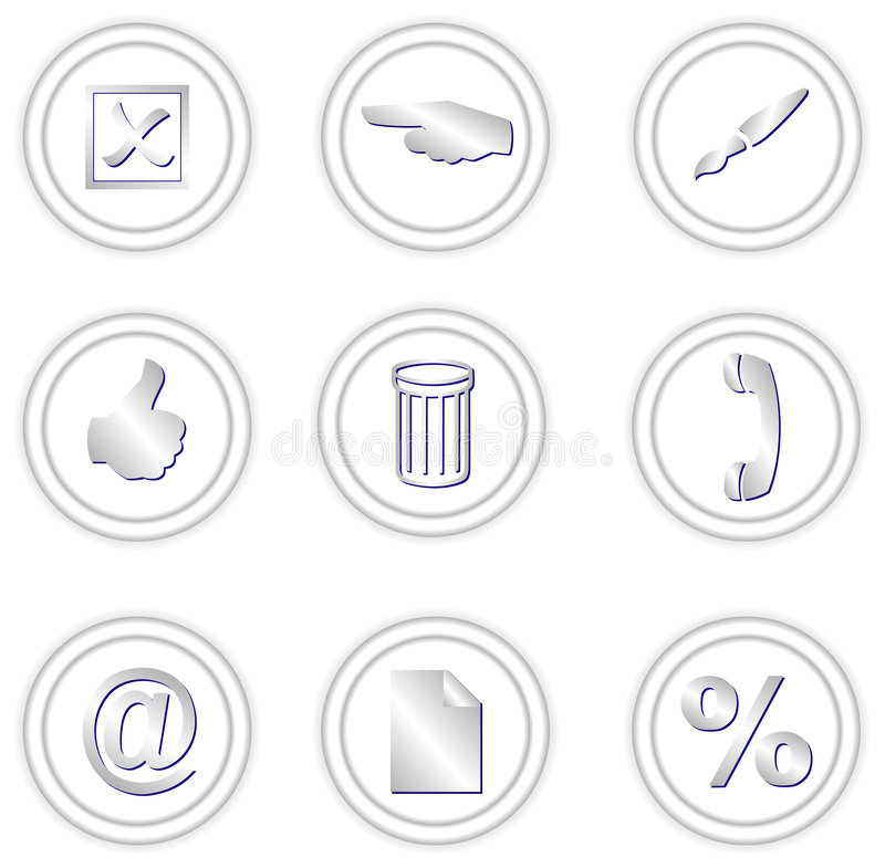 Download Round icons stock vector. Illustration of icons, modern - 3223789