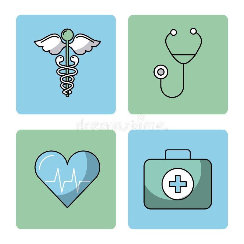 Round ikon zdrowie ilustracja wektor