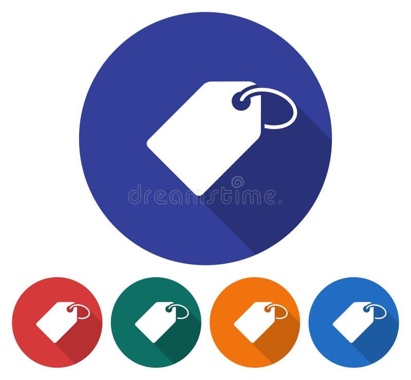 Round ikona etykietka z pierścionkiem ilustracja wektor
