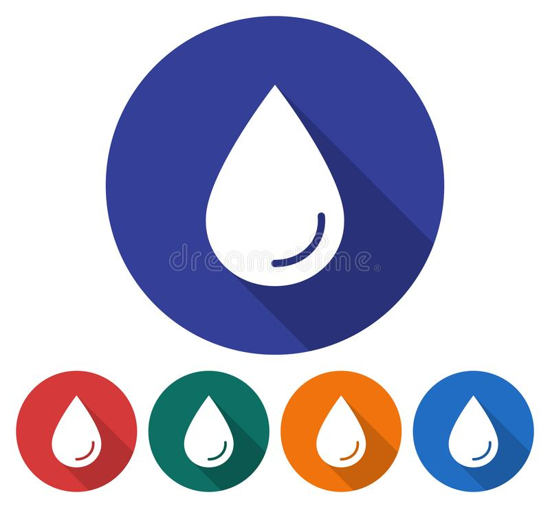 Round ikona wodna kropla ilustracja wektor