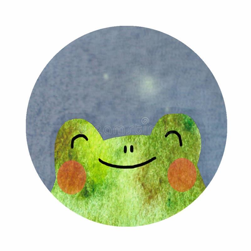 Round ikona z żabą ilustracji