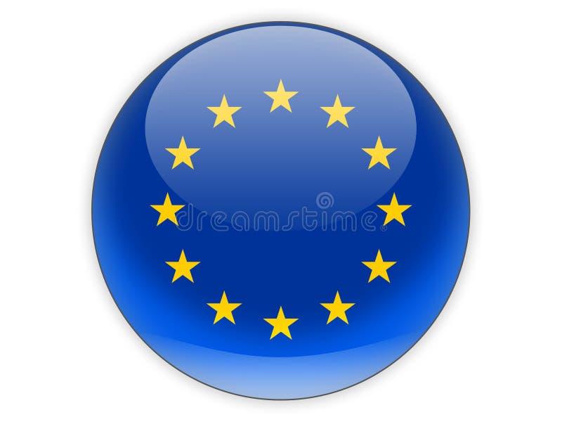 Round ikona z flaga europejski zjednoczenie royalty ilustracja