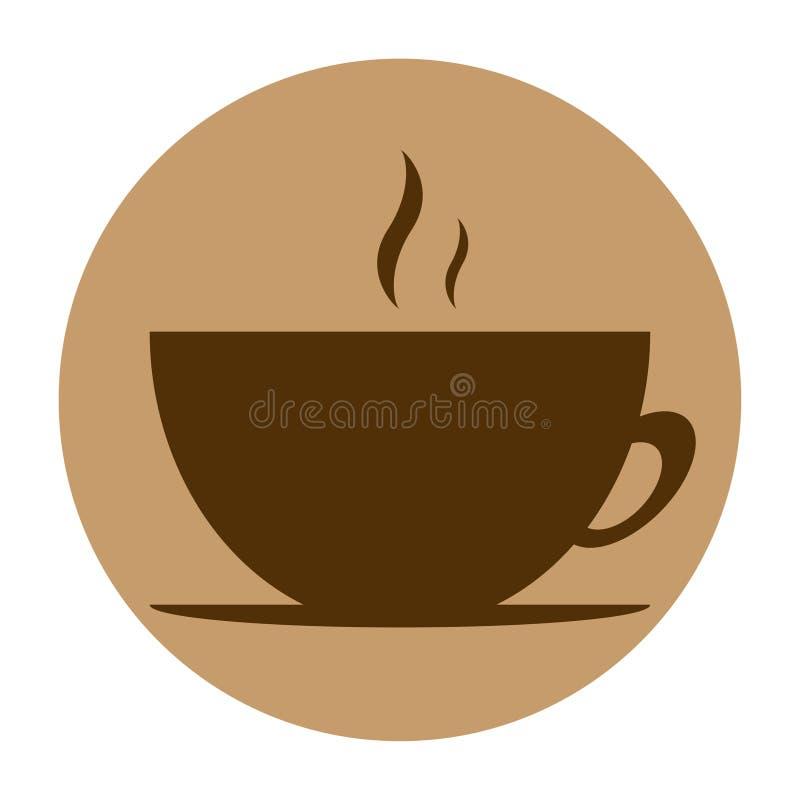 Round ikony wektorowy kawowy projekt zdjęcia stock