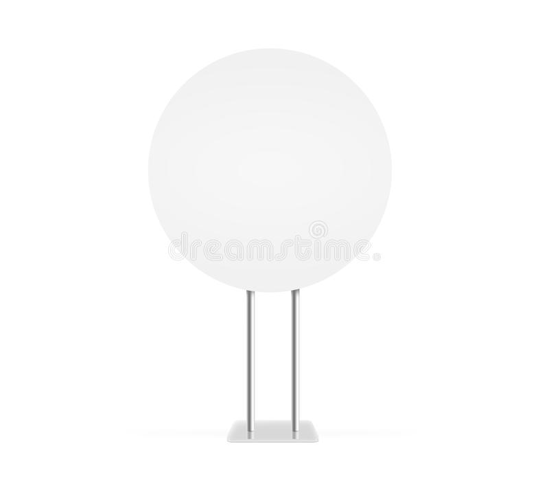 Round information board mock up stand isolated clipping path stock image