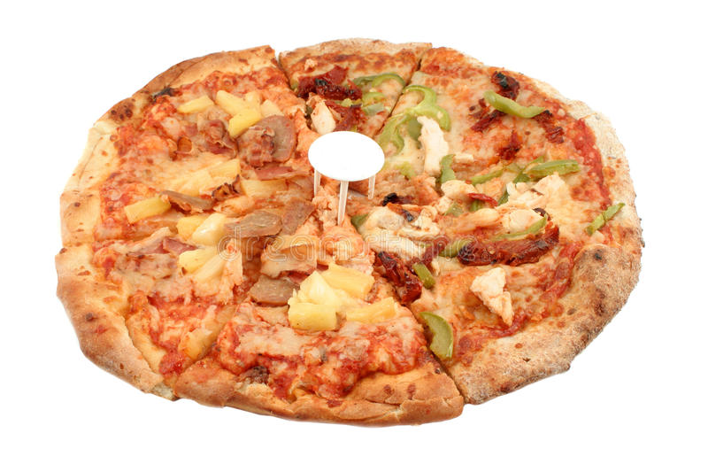 Round Italian pizz stock photography