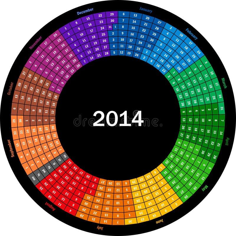 Round kalendarz 2014 ilustracji