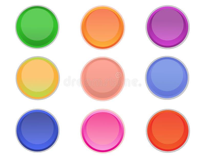 Round kolorowi guziki ilustracji