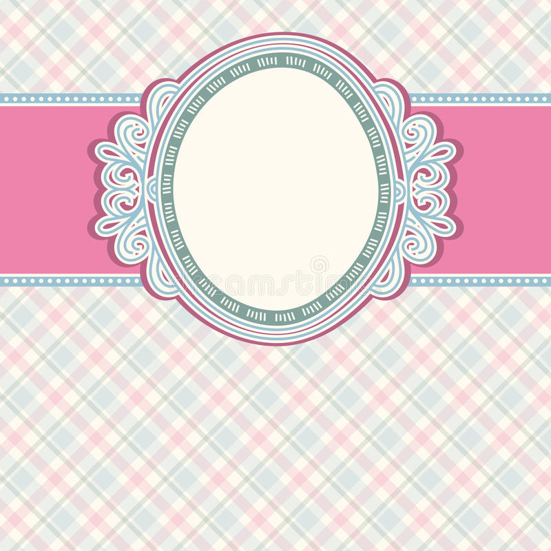 Download Round Label On Color Checked Background,  Vector Stock Vector - Illustration: 25567919