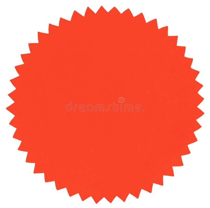 Round label royalty free stock image