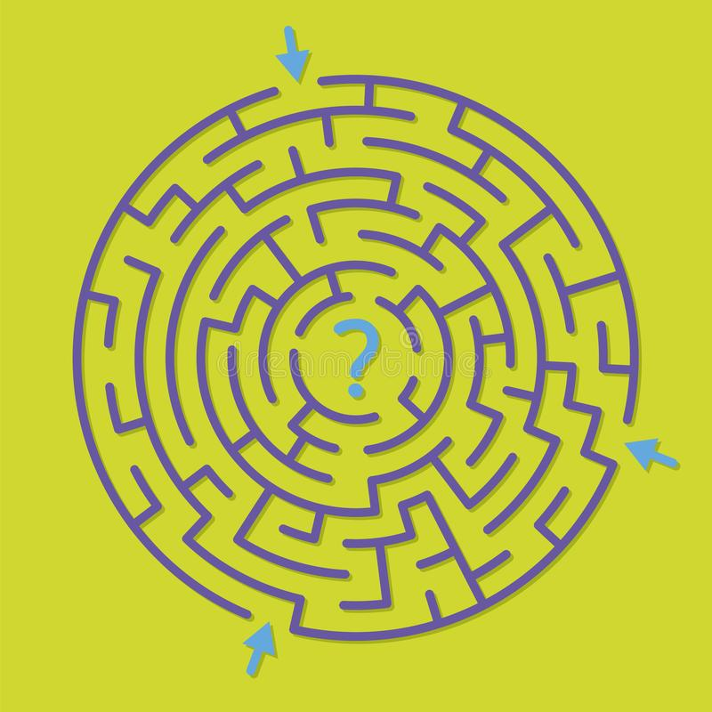 Round labityntu labiryntu gra, znalezisko prawa ścieżka royalty ilustracja