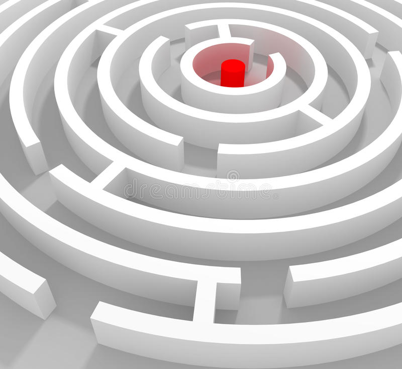 Round labyrinth stock photo