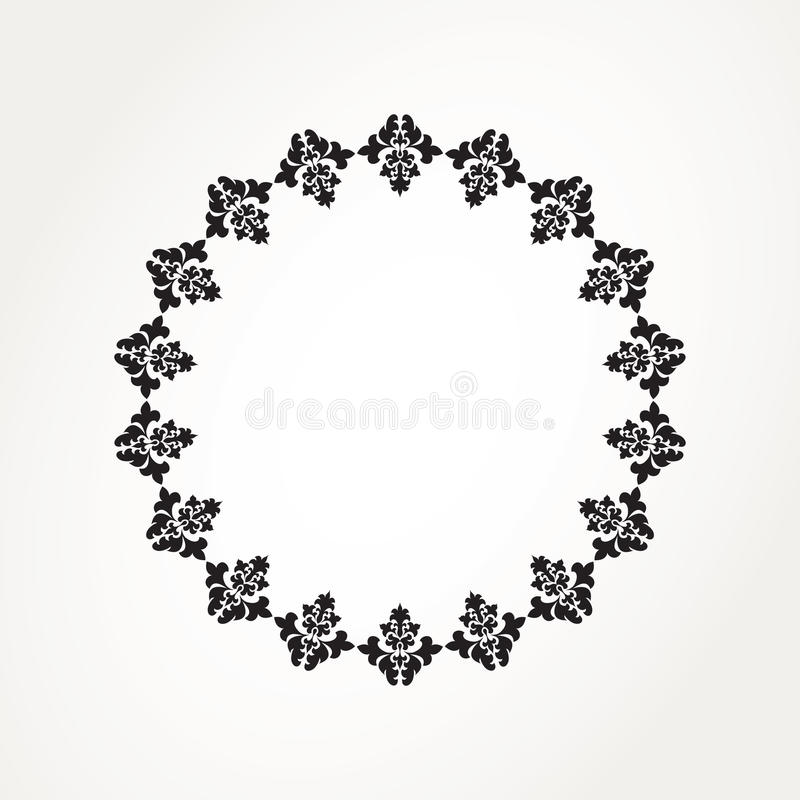 Round lace. Abstract ornamental circle. Round lace royalty free illustration