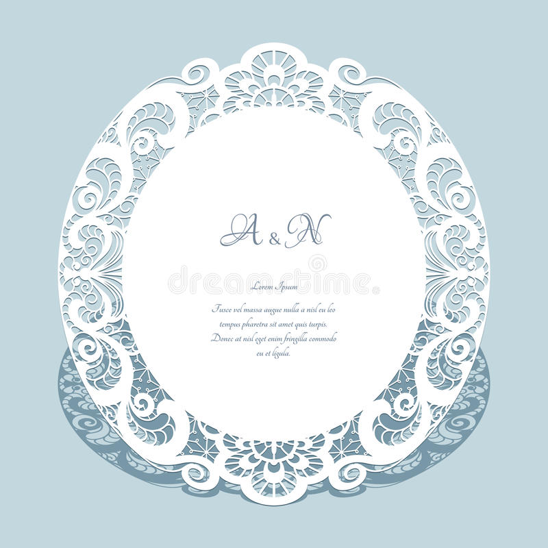 Round lace frame wedding invitation template stock vector download round lace frame wedding invitation template stock vector illustration of invite lacy stopboris Images