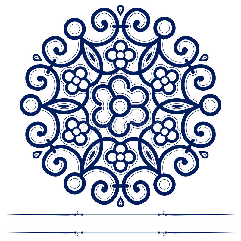 Round Lace Ornate Background Stock Images