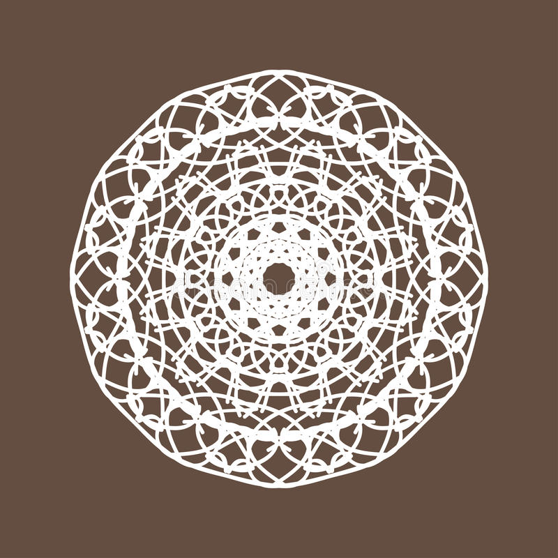 Round Lace. White Round Lace Vector Illustration vector illustration