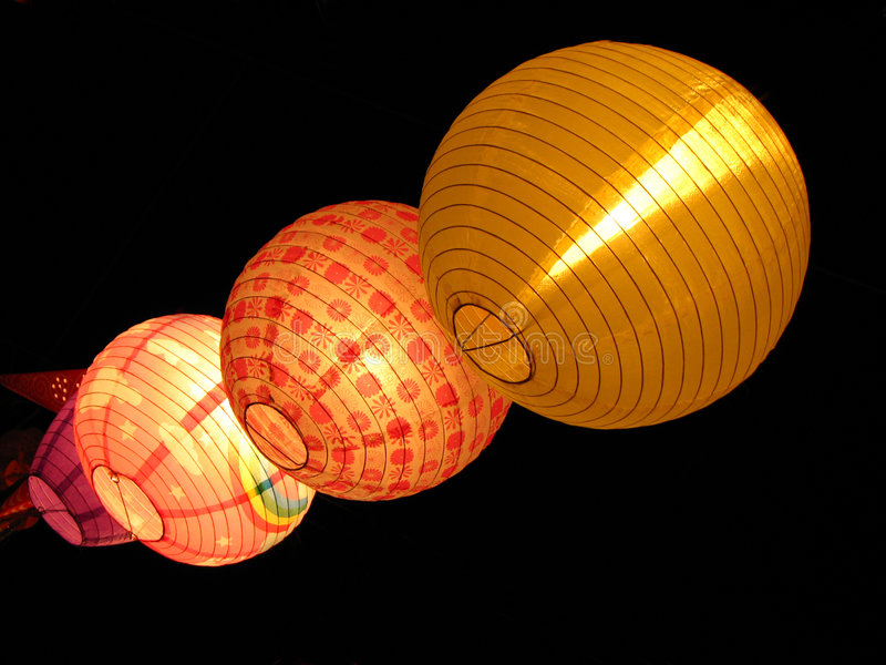 Download Round Lamps stock photo. Image of asian, colours, colourful - 3663806