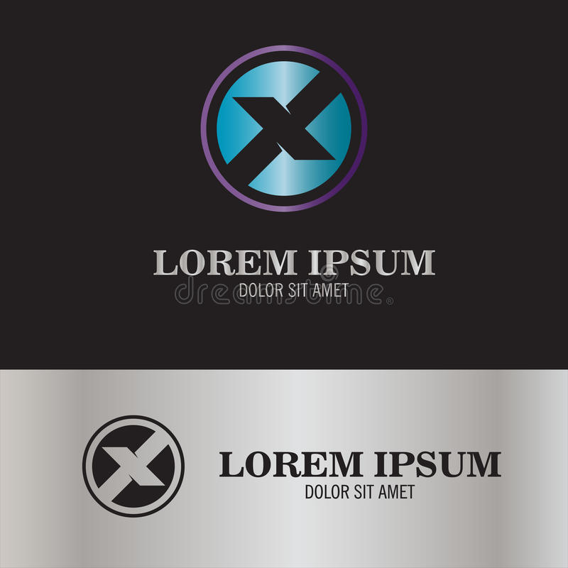 Round listu X logo ilustracji