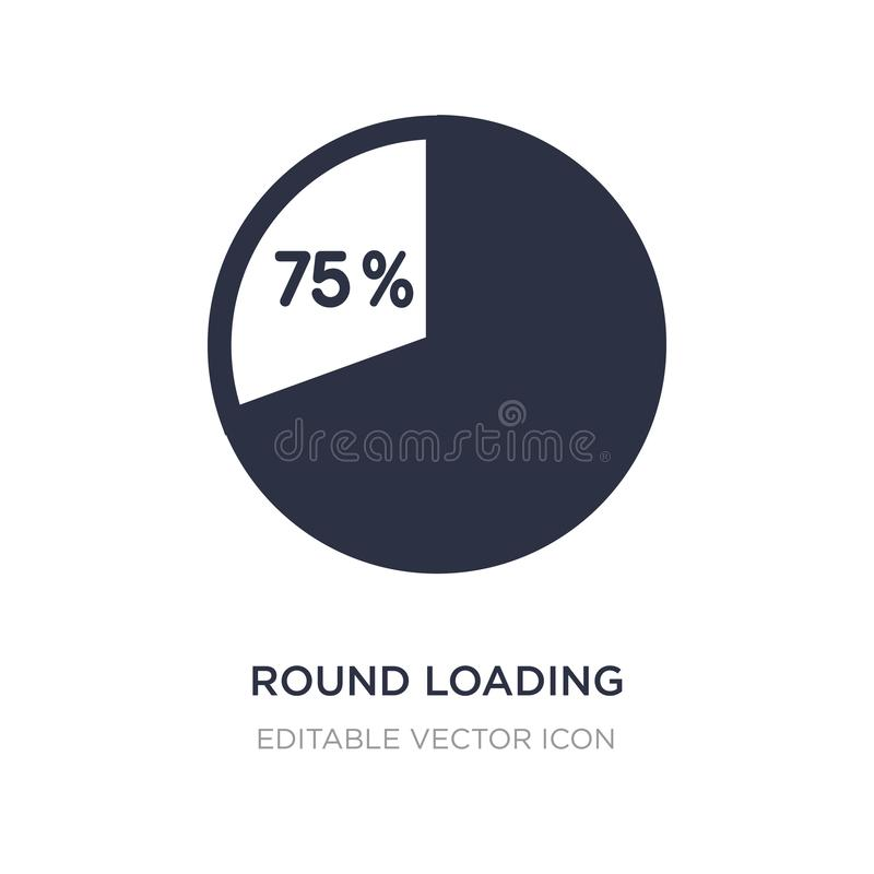 round loading progress icon on white background. Simple element illustration from UI concept royalty free illustration