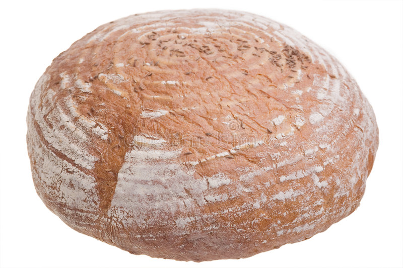 Round loaf of bread stock photography