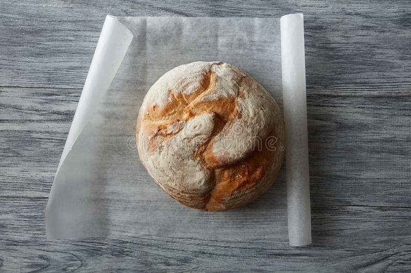 Round loaf of bread royalty free stock photo